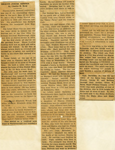 Newspaper biography of Deacon Josiah Newton