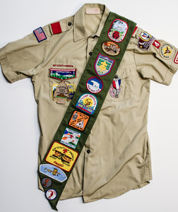 Boy Scout Uniform Sash and Shirt