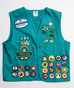 Girl Scout Uniform Vest and Sash