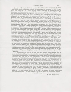 Dr. Hero printed letter