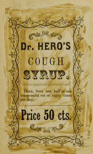 Dr. Hero's cough syrup label