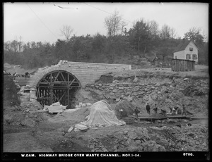 Wachusett Dam, highway bridge over waste channel, Clinton, Mass., Nov. 1, 1904