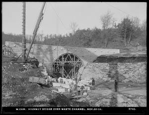 Wachusett Dam, highway bridge over waste channel, Clinton, Mass., Nov. 22, 1904