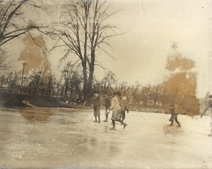 Boys Skating, Perkins Pond