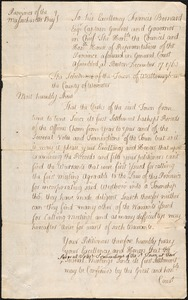 """Petition to Confirm """"Acts of Town,"""" Since Original Warrants Were Lost, 1760"""