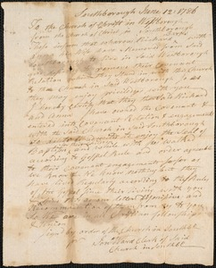 Letters of Recommendation from Other Churches, 1786-1791