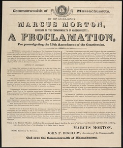 Proclamations Re: Representation in State Government, 1837, 1840