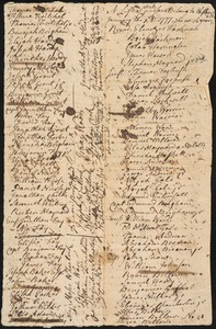 List of Males Over 16 Years Old, 1777