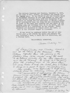 Trustees minutes, 1954/12/07 and 1955/03/08