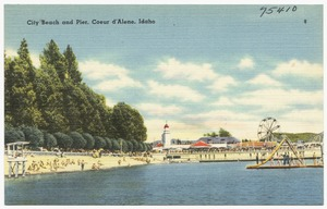 City beach and pier, Coeur d'Alene, Idaho