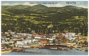 Coeur d'Alene, Idaho from the air