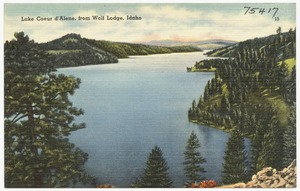 Lake Coeur d'Alene, from Wolf Lodge, Idaho