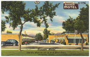 Banner Motel, 1406 No. Main St.. (U.S. 30 N West Entr) Pocatello, Idaho