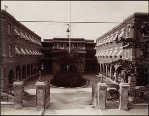 View of Myrtle Bank Hotel and courtyard, Kingston, Jamaica