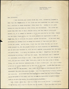 Bartolomeo Vanzetti typed letter (copy) to Alfonsina Brini, Charlestown, 10 January 1921