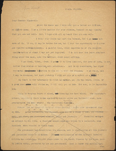 Bartolomeo Vanzetti typed letter (incomplete copy) to Alice Stone Blackwell, [Charlestown], 15 September 1924
