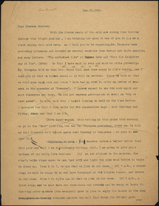 Bartolomeo Vanzetti typed letter (copy) to Mary Donovan, [Charlestown], 19 December 1926
