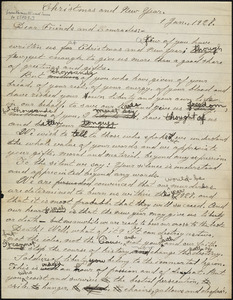 Bartolomeo Vanzetti autograph letter to Friends and Comrades [Sacco-Vanzetti Defense Committee], [Charlestown], 1 January 1927