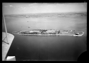 Aerial view of Gould Island