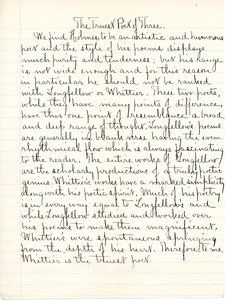 """American Authors"" essay by Sarah (Sallie) M. Field, Abbot Academy, class of 1904"