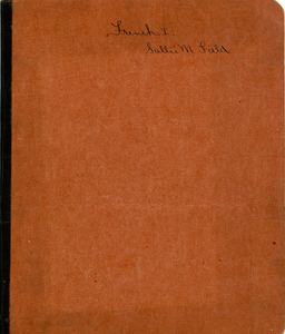 French 1 notebook of Sarah (Sallie) M. Field, Abbot Academy, class of 1904