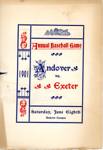 Annual Andover vs Exeter baseball game 1901, Sarah (Sallie) M. Field, Abbot Academy, class of 1904