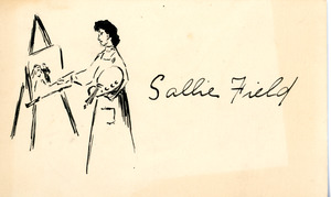 Name tag for Sallie Field, Sarah (Sallie) M. Field, Abbot Academy, class of 1904