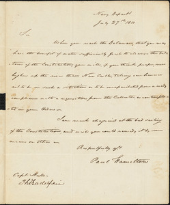Paul Hamilton to Captain Isaac Hull, July 27, 1810