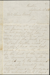John Contee to Lewis Bush, September 13, 1812