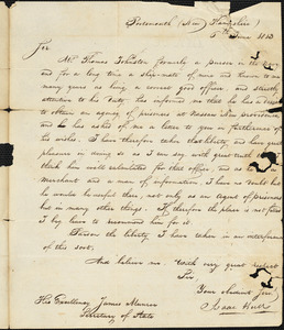 Isaac Hull to James Monroe, June 6, 1813