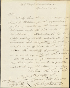 Charles Stewart to William Jones, April 23, 1814