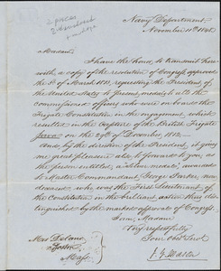 John Young Mason to Mrs. Delano, November 11, 1848