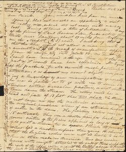 Amos A. Evans to his parents, October 20, 1812
