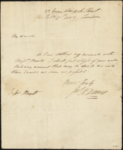 James Dacres to Jon Minott, February 17, 1813