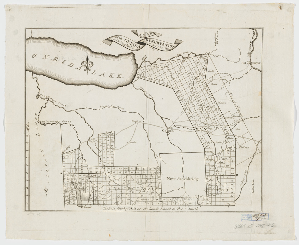A map of the Oneida Reservation