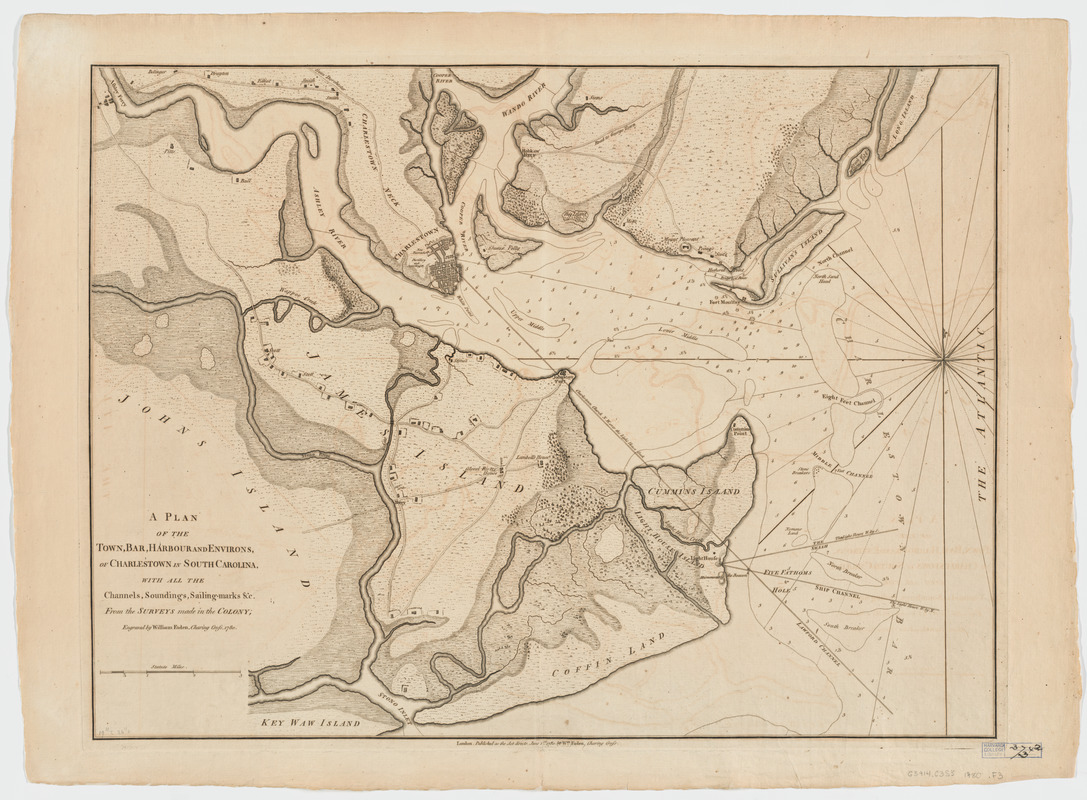 A plan of the town, bar, harbour and environs, of Charlestown in South Carolina