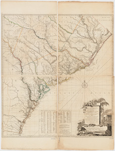 A map of South Carolina and a part of Georgia
