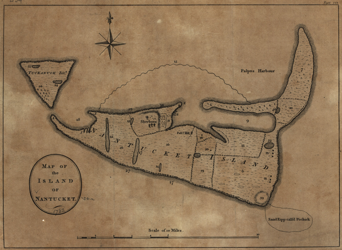 Map of the island of Nantucket