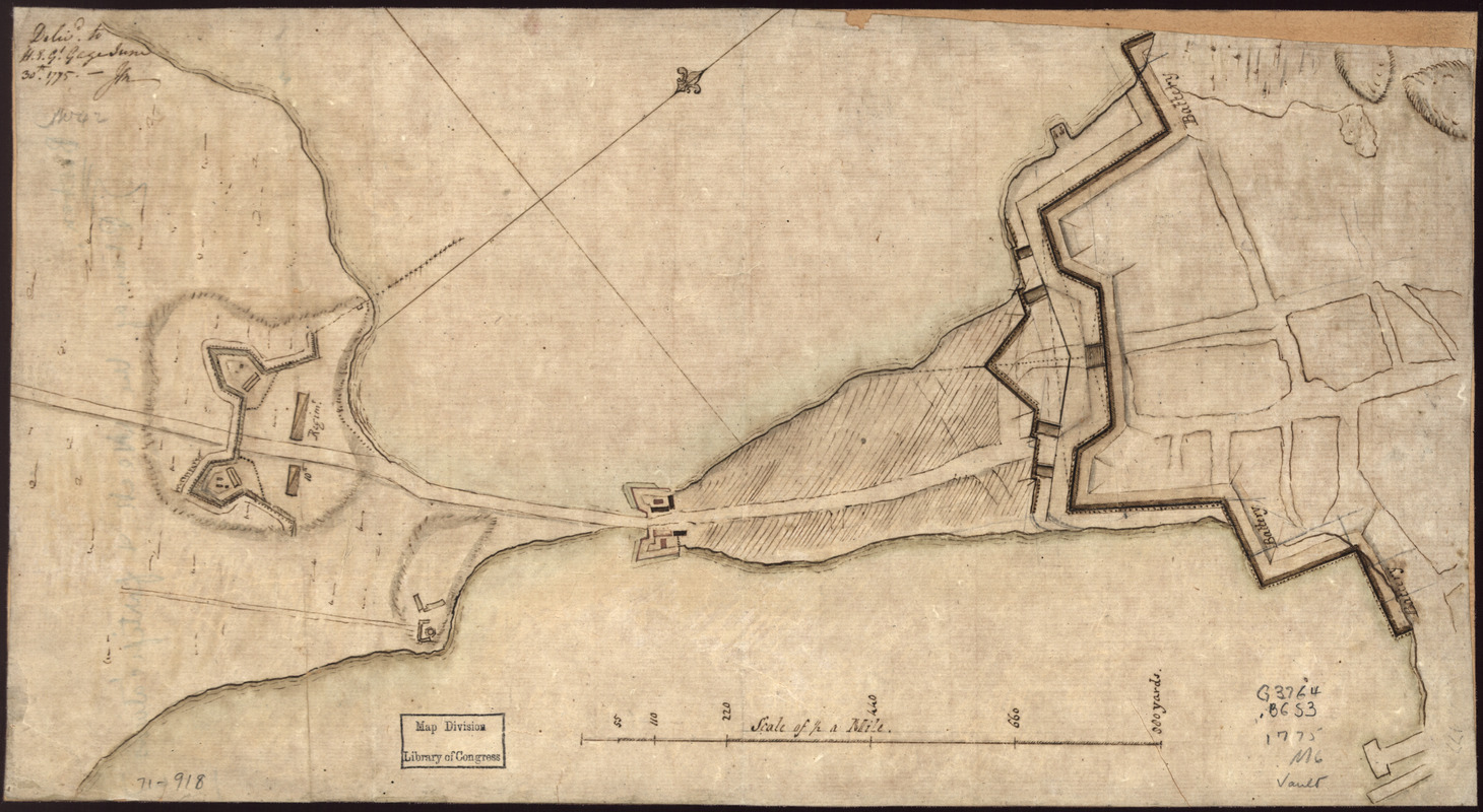 "[Plan of the ""Neck"" and fortifications]"