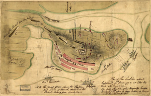 Plan of the action which happen'd 17th. June 1775, at Charles Town, N. America