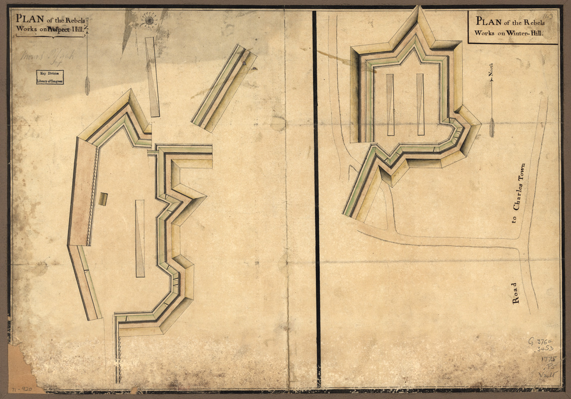 Plan of the rebels works on Prospect-Hill