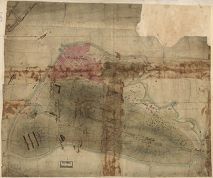[Rough draft of Charlestown, in water colour]