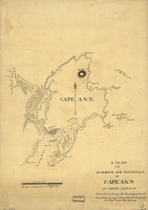 A plan of the harbour and peninsula of Cape Ann in North America