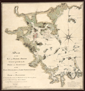 A plan of the bay and harbor of Boston
