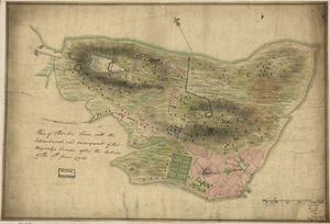 Plan of Charles Town, with the intrenchments, and encampment of His Majesty's troops, after the action of the 17th. June 1775