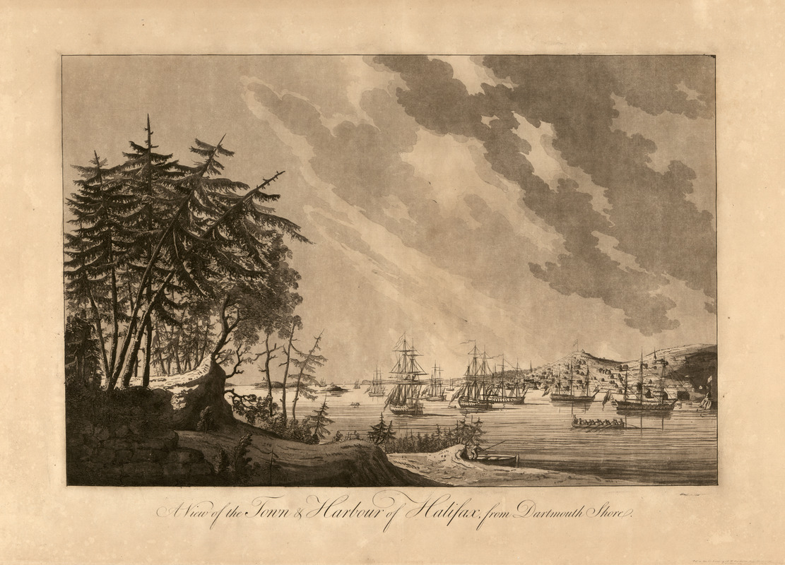 A view of the town & harbour of Halifax, from Dartmouth shore