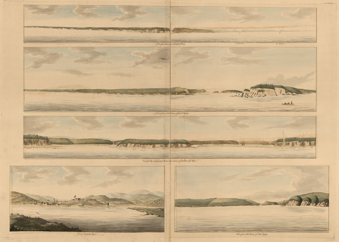 View of the entrance into Annapolis Bason ; View of the north entrance of Grand Passage ; View of Eden and Gascoyne Rivers ... ; View of Annapolis Royal ; View of the north entrance of Petit Passage