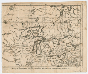 A Map of the five Great Lakes with part of Pensilvania, New York, Canada, and Hudsons Bay Territories &c