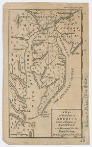 A map of that part of America where a degree of latitude was measured for the Royal Society