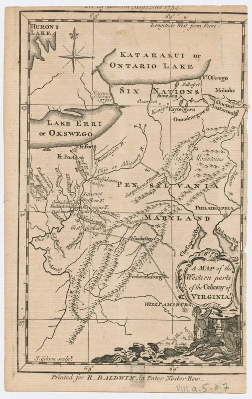 Map Of The Western Parts Of The Colony Of Virginia Norman B